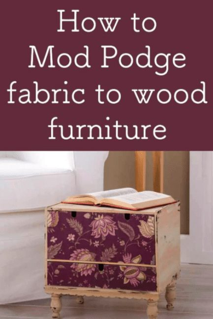 learn how to add fabric to wood furniture
