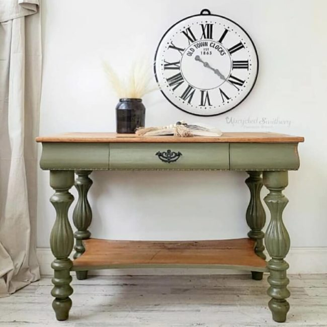 olive green clay furniture paint by MudPaint