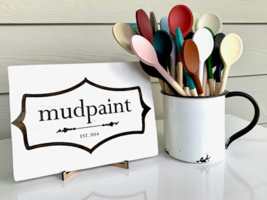 hand painted spoons with Mudpaint clay furniture paint